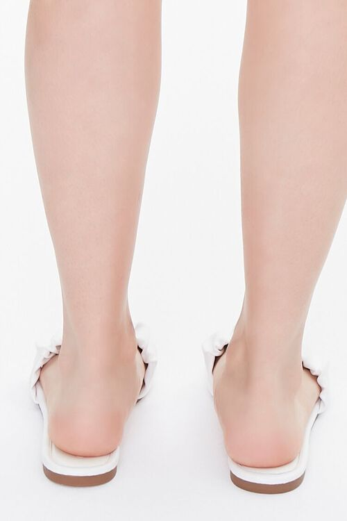 Faux Leather Ruched Sandals, image 3