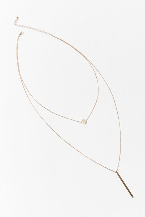 GOLD Bar Drop Layered Necklace, image 3