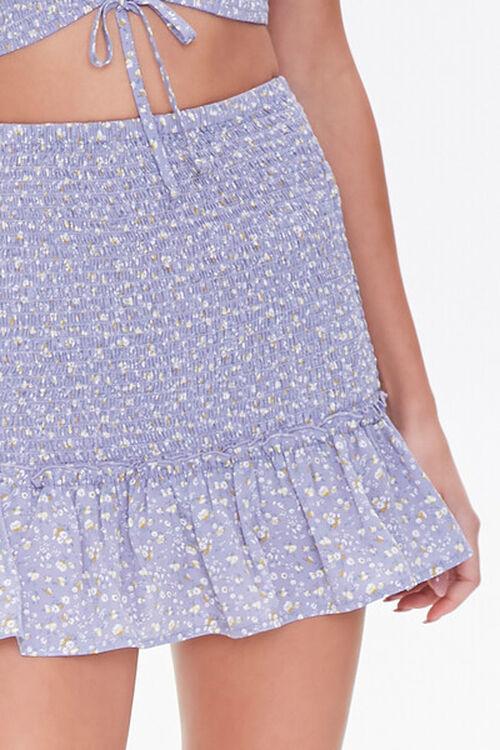 Floral Smocked Mini Skirt, image 5