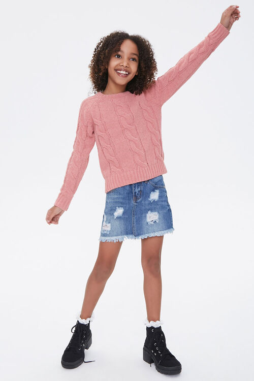 Girls Cable-Knit Sweater (Kids), image 4