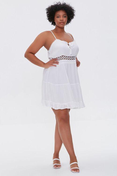 Plus Size Crochet-Trim Mini Dress, image 4