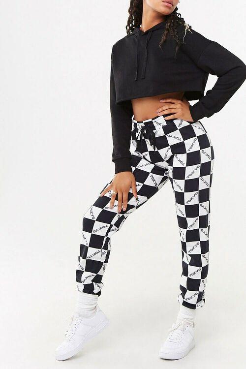 BLACK/WHITE Checkered Tokyo Joggers, image 1