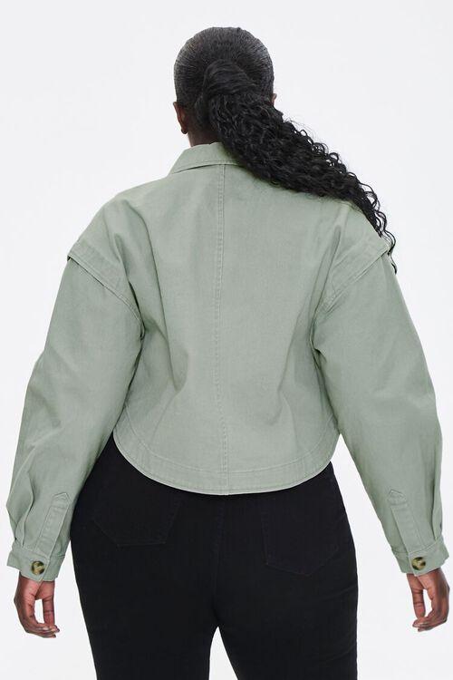 Plus Size Layered Cotton Jacket, image 3