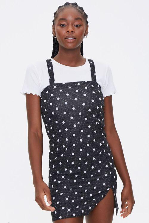 Polka Dot Pinafore Dress, image 1