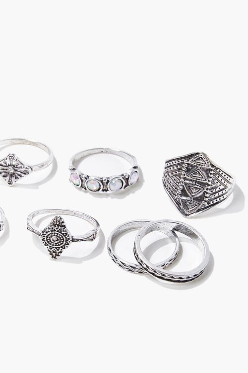 Engraved Boho Ring Set, image 2