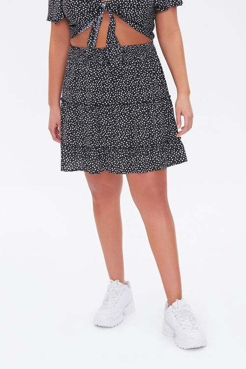 Plus Size Floral Print Mini Skirt, image 2