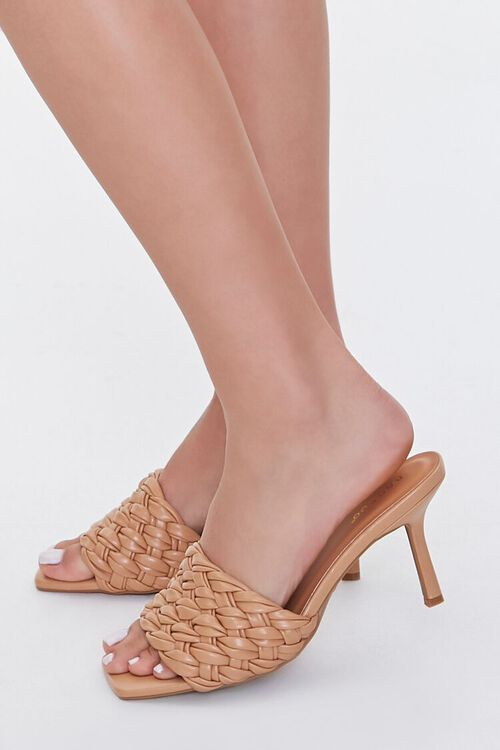 Basketwoven Square-Toe Heels, image 1