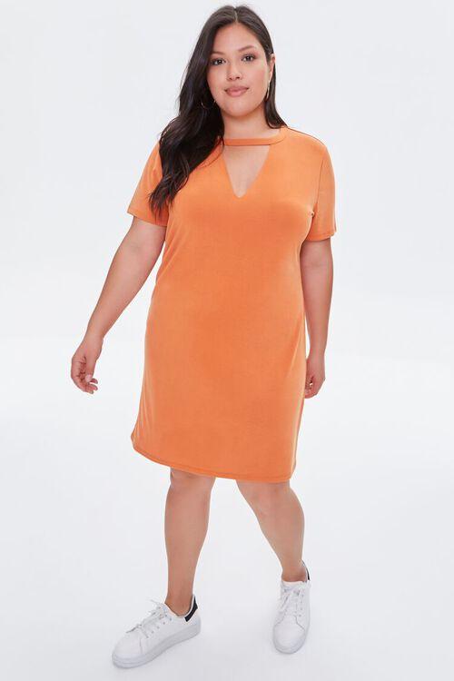 Plus Size Cutout T-Shirt Dress, image 4