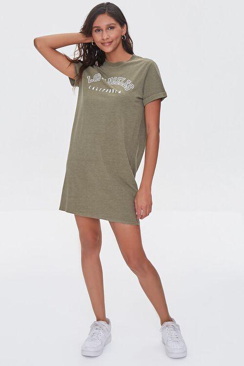 Los Angeles Graphic T-Shirt Dress, image 4