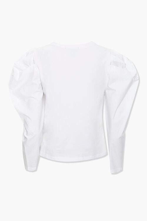 Cotton-Blend Puff-Sleeve Top, image 2