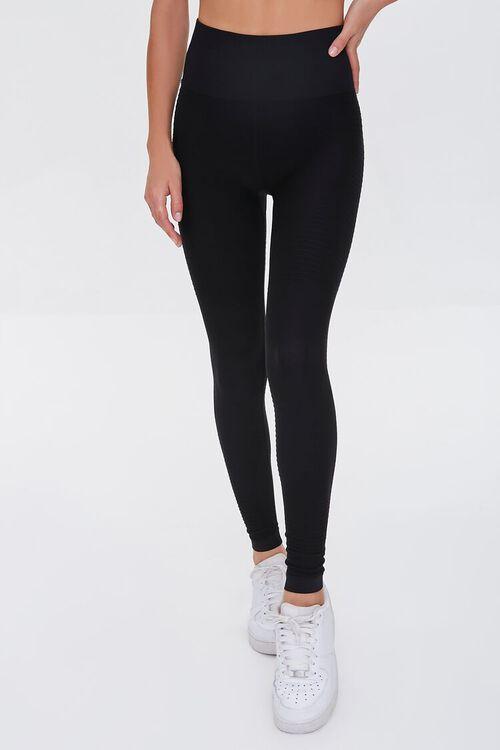 BLACK Active Seamless Leggings, image 2