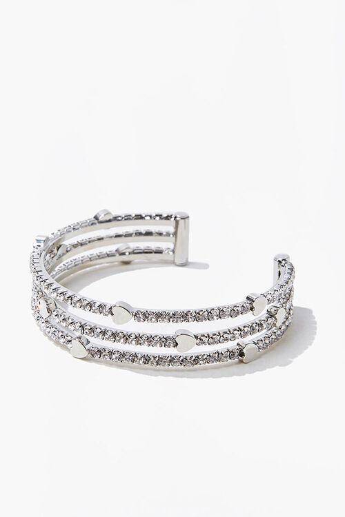 Heart Charm Bracelet Cuff, image 1