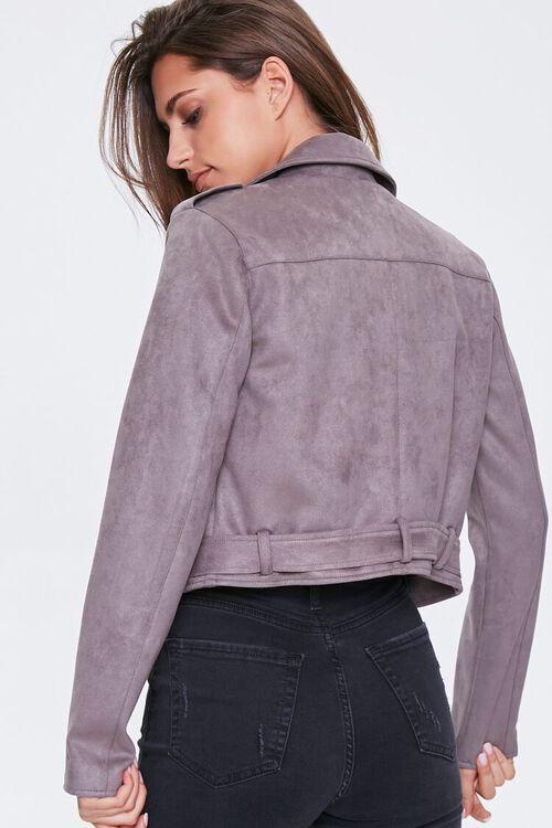 Faux Suede Moto Jacket, image 3