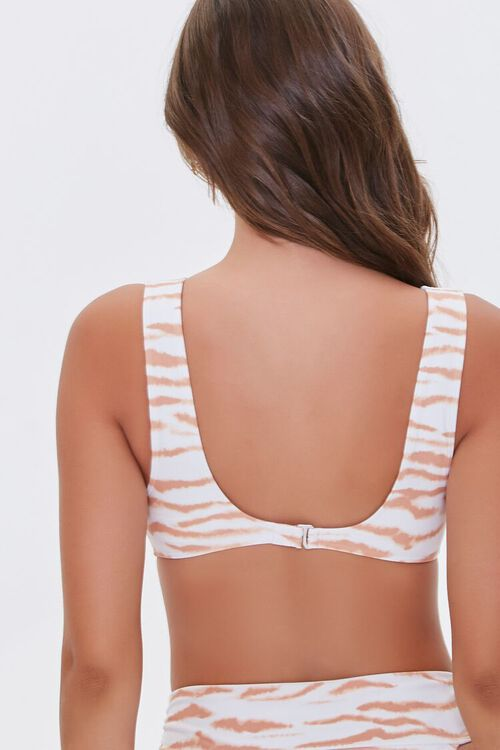 Tiger Print Bralette Bikini Top, image 3