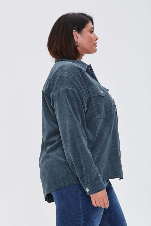 TEAL Plus Size Corduroy Jacket, image 2