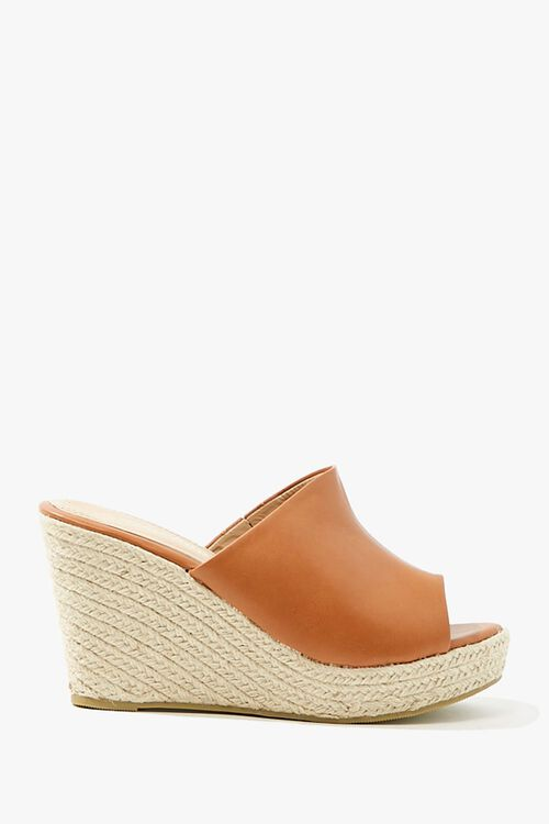 Faux Leather Espadrille Wedges, image 1