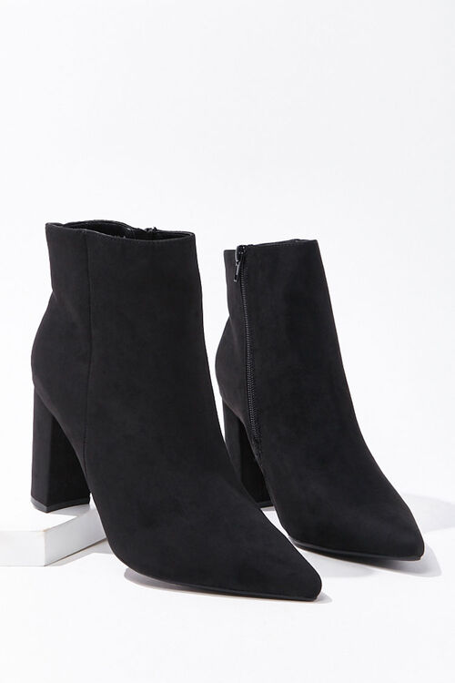 Pointed Toe Block Heel Booties, image 3