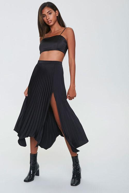 Pleated Accordion Midi Skirt, image 1
