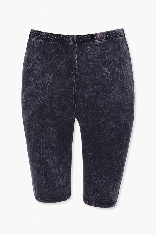 Stone Wash Biker Shorts, image 2