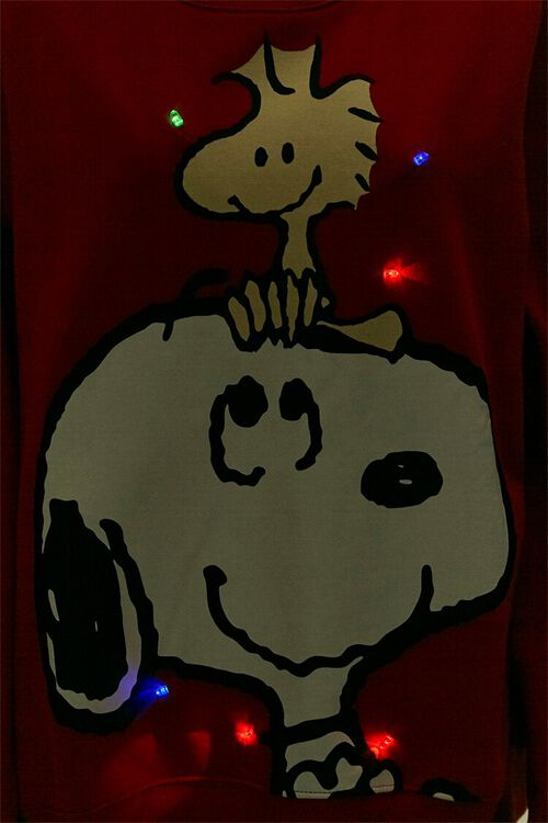 RED/MULTI Snoopy Light-Up Pullover, image 5