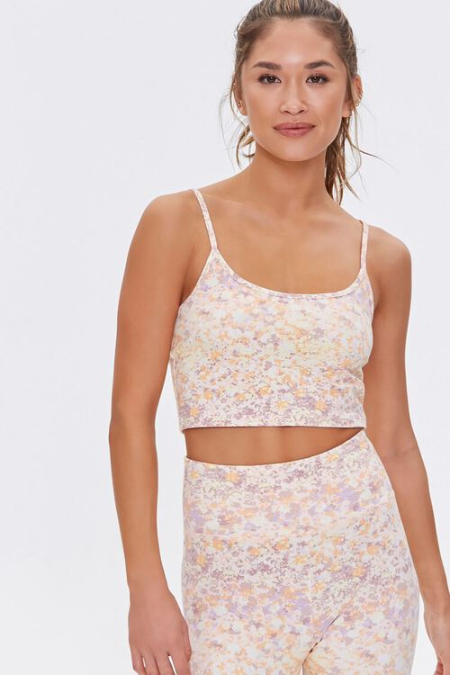 Active Floral Cropped Cami, image 1