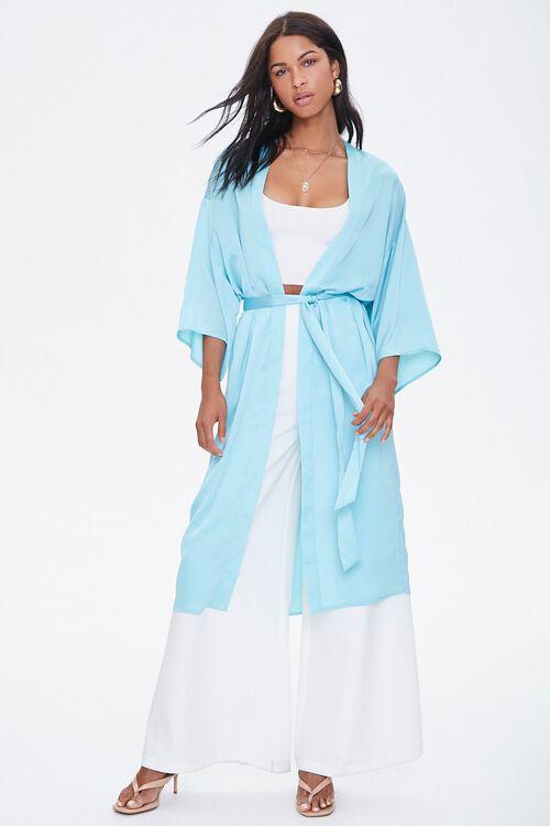 Belted Longline Kimono, image 4