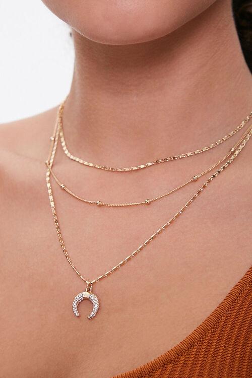 Double Horn Pendant Necklace, image 1