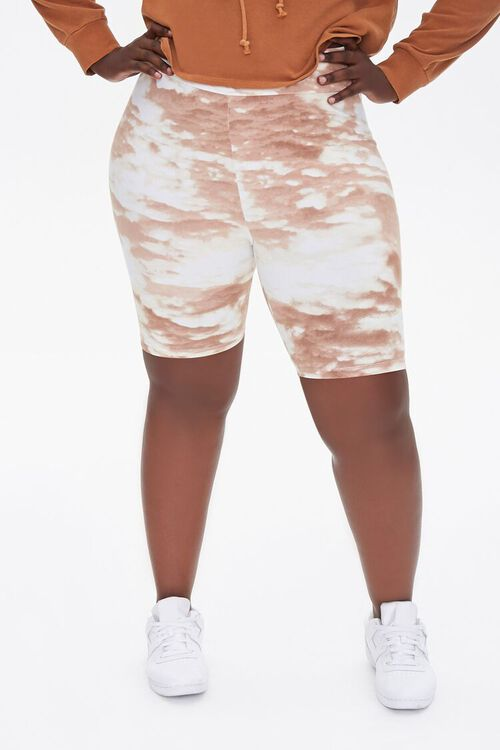 Plus Size Cloud Wash Bike Shorts, image 2
