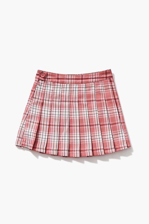 Girls Pleated Plaid Skirt (Kids), image 1