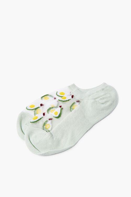 Avocado Mesh-Panel Ankle Socks, image 2