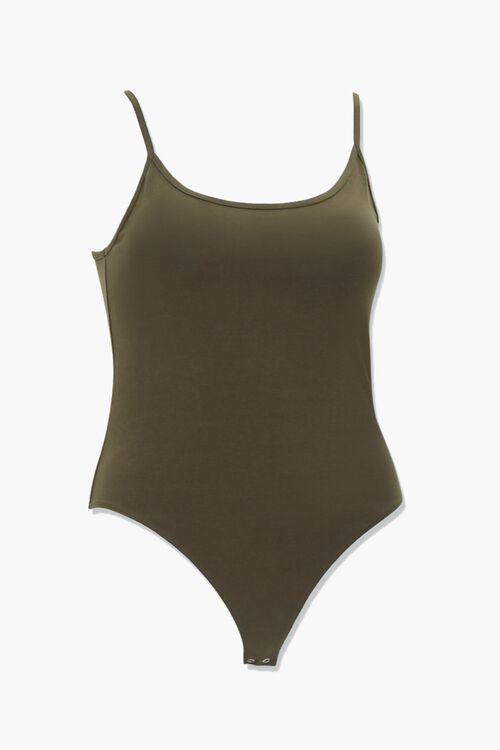 Plus Size Scoop Neck Cami Bodysuit, image 1