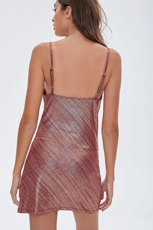 Metallic Cami Mini Dress, image 3