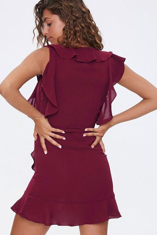 Chiffon Ruffle-Trim Wrap Dress, image 3