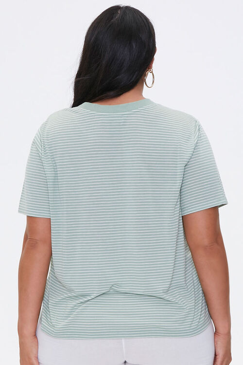 Plus Size Pinstriped Tee, image 3
