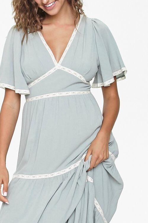 Crochet-Trim Maxi Dress, image 5
