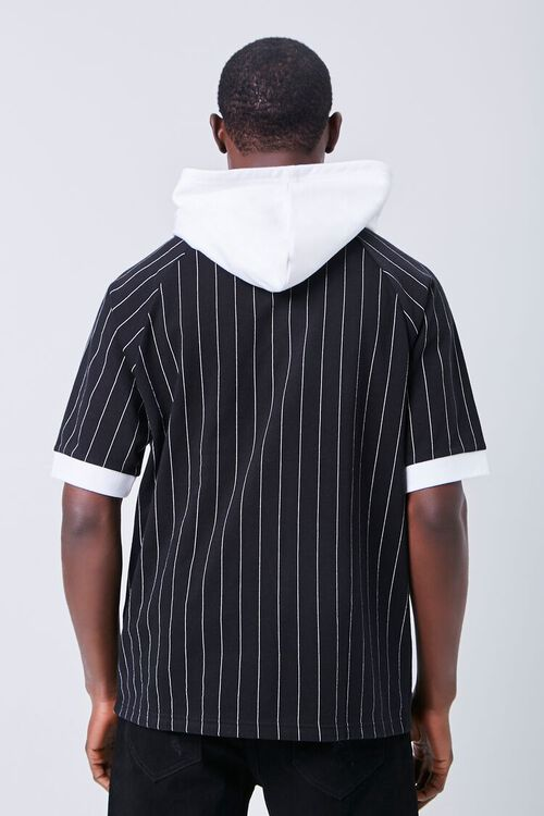 BLACK/WHITE Legend Graphic Striped Hooded Top, image 3