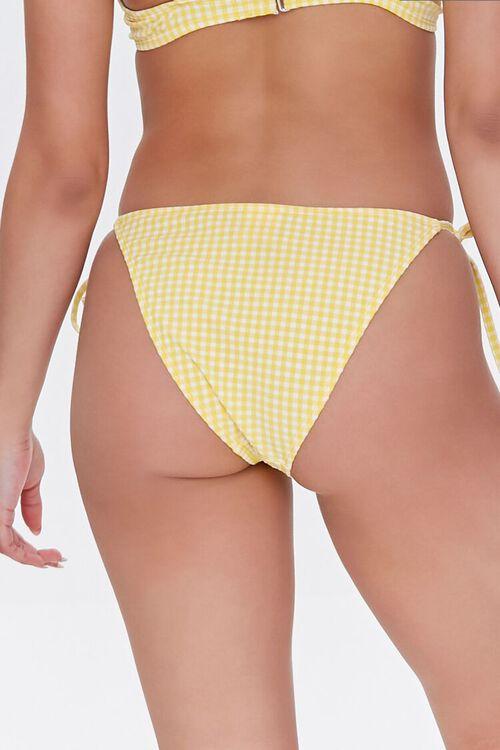 Gingham String Bikini Bottoms, image 4