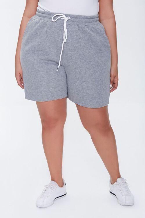 Plus Size Fleece Sweatshorts, image 2
