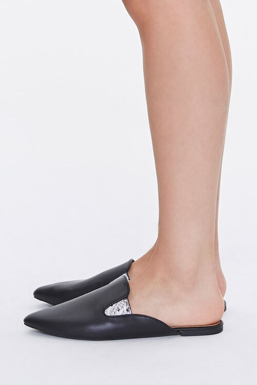 Faux Leather Metallic-Accent Mules, image 2