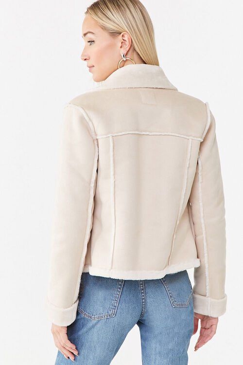 Open-Front Faux Suede Jacket, image 3