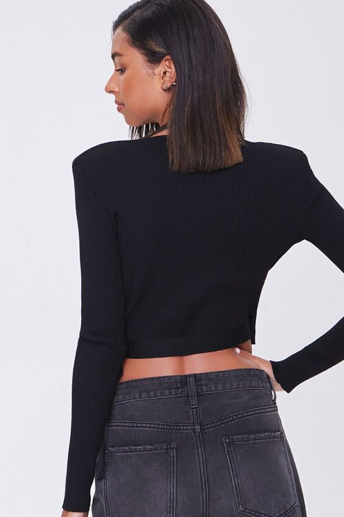 Surplice Shoulder-Pad Sweater, image 3