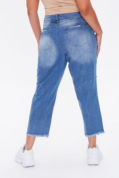 Plus Size Distressed Cropped Jeans, image 4