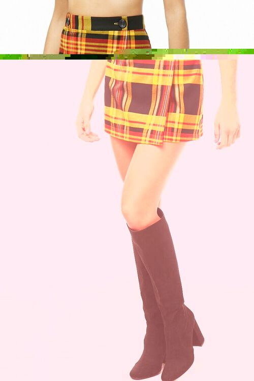 Plaid A-Line Skirt, image 1