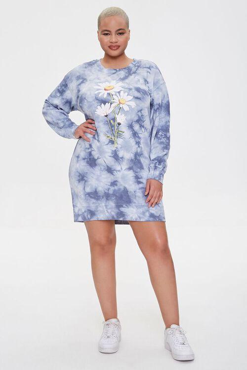 Plus Size Floral Graphic Sweatshirt Dress, image 4