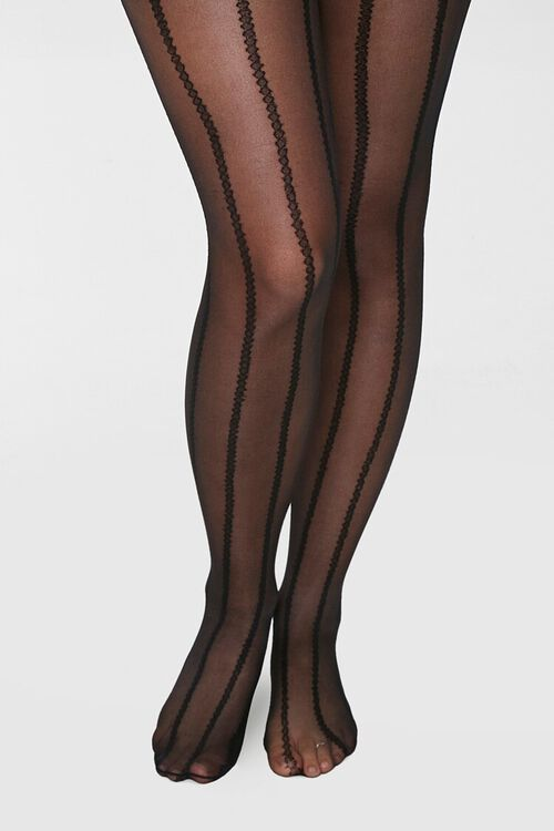 Sheer Striped Tights, image 4