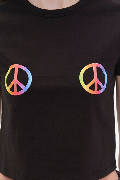 Peace Sign Cropped Tee, image 5