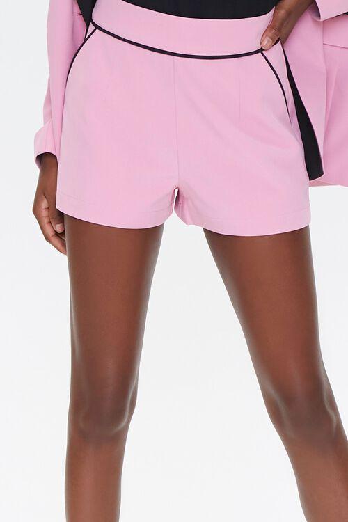 PINK/BLACK Piped-Trim Shorts, image 5