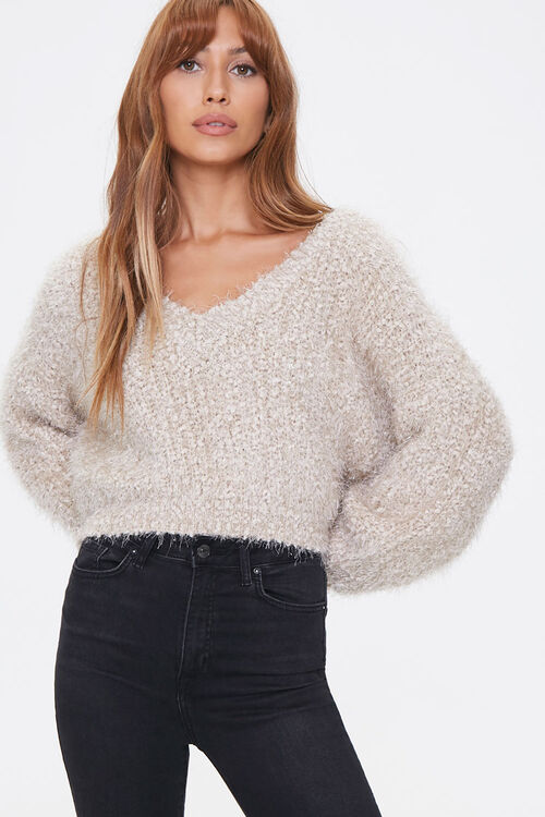 Fuzzy Chenille Sweater, image 1