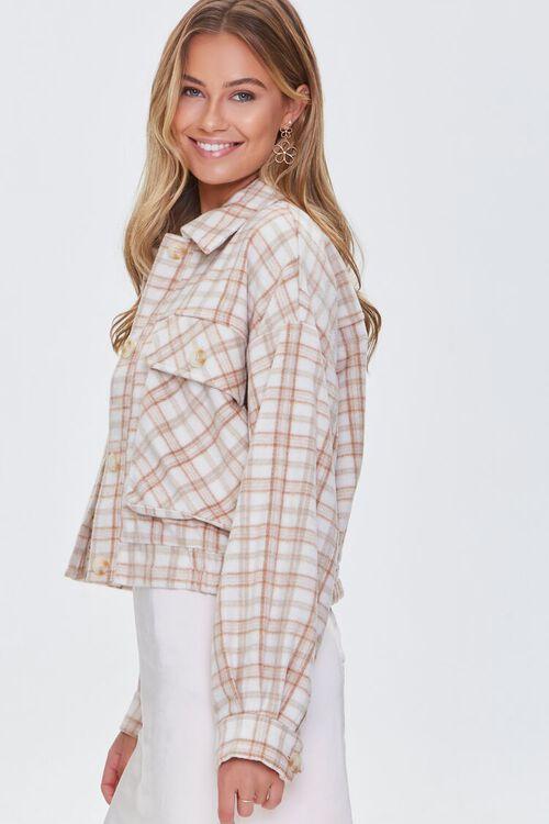 CREAM/MULTI Plaid Button-Front Jacket, image 2