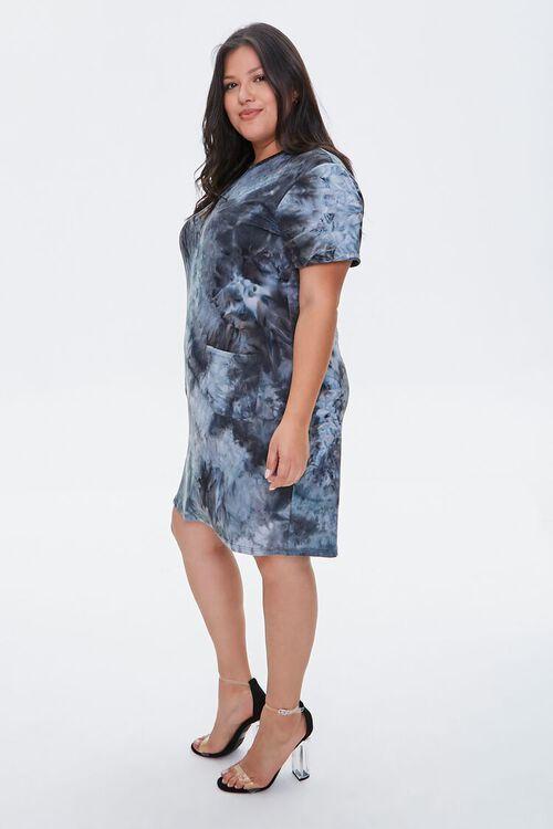 Plus Size Tie-Dye T-Shirt Dress, image 3